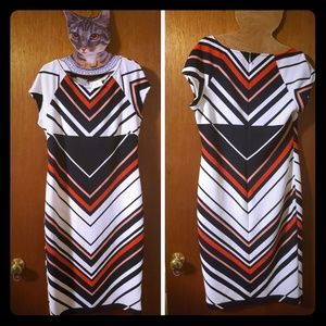 ECI Sexy Chevron Dress NWT